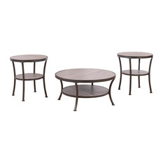 living room coffee table set. Divano Roma Furniture  3 Piece Modern Round Coffee Table and 2 End Tables Living Sets Houzz