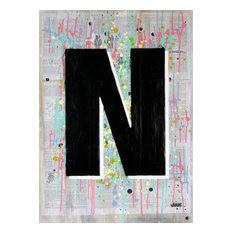 """N1"",Spray Paint Painting"