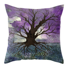 """Decorative Pillow Cover, Tree of Life Painting, 18""""x25"""" With Insert"""