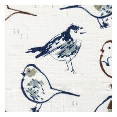 "Bird Toile Regal Chinoiserie 20"" Square Decorative Throw Pillow Cotton"