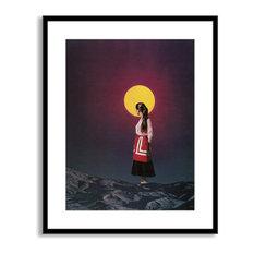 Beth Hoeckel's 'Golden Moon' Framed Paper Art, 17x20