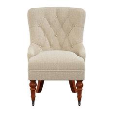 Pelham Tufted Accent Chair Natural Linen