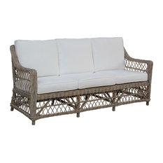 Panama Jack Seaside Sofa With Cushions, Sunbrella Canvas Macaw