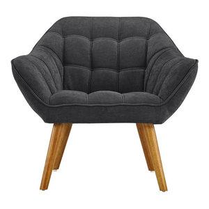 Marvelous Stapleton Beige Linen Modern Accent Chair Transitional Spiritservingveterans Wood Chair Design Ideas Spiritservingveteransorg