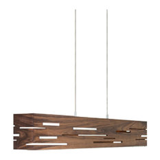 Aeris 30 - LED Linear Pendant, Wood: Dark Stained Walnut, Brushed Aluminum
