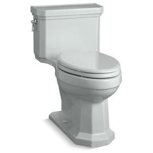 Kohler Kathryn 1-Piece Elongated 1.28 GPF Toilet, Left-Hand Lever, Ice Grey