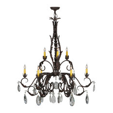 """38.5"""" New Country French 9-Light Chandelier"""