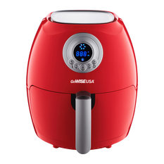 GoWISE USA 4-in-1 Digital Air Fryer 2.75 QT, Red