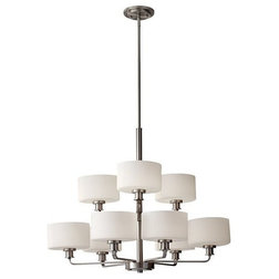 Simple Transitional Chandeliers by ALCOVE LIGHTING