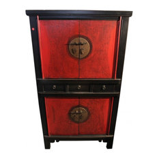 59-inch Chinese Chest On Chest Finished 2-Tone Lacquer