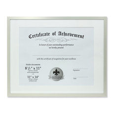 11x14 Dual Use Silver Aluminum Document Frame, 11x14