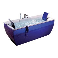 Kali Color Free Standing Bathtub in Blue