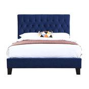Emerald Home Amelia Upholstered Bed, Navy, Queen