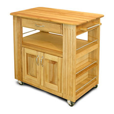Wheeled Heart of the Kitchen Island w 2 Cabin