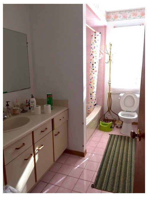 80s Pink And Beige Bathroom Needs A Do Over