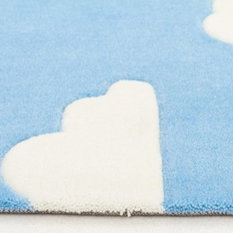 Baby Blue Nursery Rug Home Products