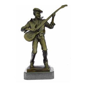 Wax Method Baseball Player Home Deco Bronze Sculpture Statue Figurine Figure T