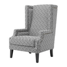 "Living Room Chair, Eichholtz Eleventy, Black, 29""x28""x46"""