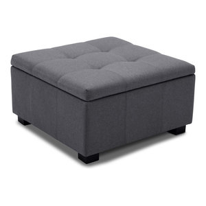 Stupendous 16H Checkered Block Storage Ottoman 1 Seating Bralicious Painted Fabric Chair Ideas Braliciousco