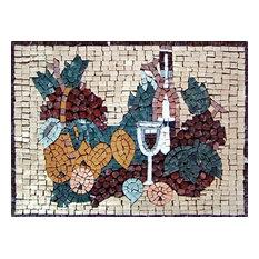 "Mosaic Kitchen Backsplash, Opaco, 15""x23"""