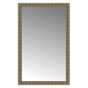 """35""""x55"""" Custom Framed Mirror, Distressed Silver"""