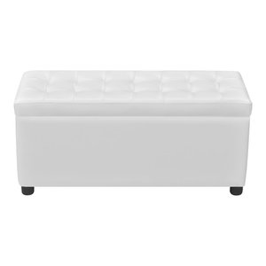 Magnificent Crystal Tufted Fabric Storage Ottoman With Chrome Feet Bralicious Painted Fabric Chair Ideas Braliciousco
