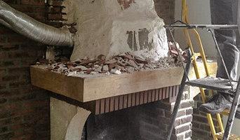 Création cheminée moderne avec insert bois