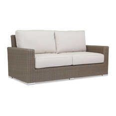 Coronado Loveseat With Cushions, Canvas Flax With Self Welt