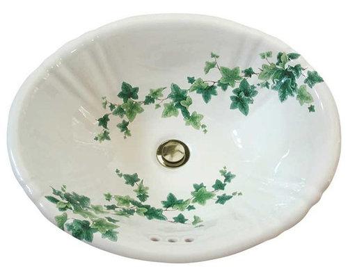Ivy Hand Painted Sink Bathroom Sinks