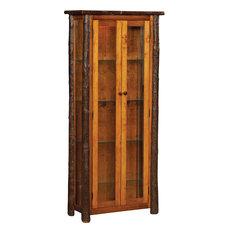 Ean Enclosed Curio Cabinet, Natural Finish