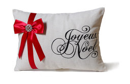 Script with Bow Pillow
