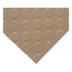 Rubber-Cal Coin-Grip Metallic PVC Flooring, Beige, 2.5mm, 4'x8'