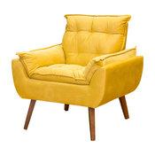 Melissa Armchair & Ottoman Set, Yellow