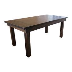 Farmhouse Table Rustic Hardwood Barn Wood Finish 108-inchx42-inchx30-inch