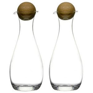 Sagaform Oil / Vinegar Bottles With Oak Stoppers