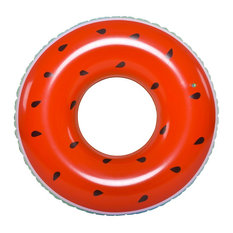 Inflatable Red and Green Watermelon Swimming Pool Float Ring  49-Inch