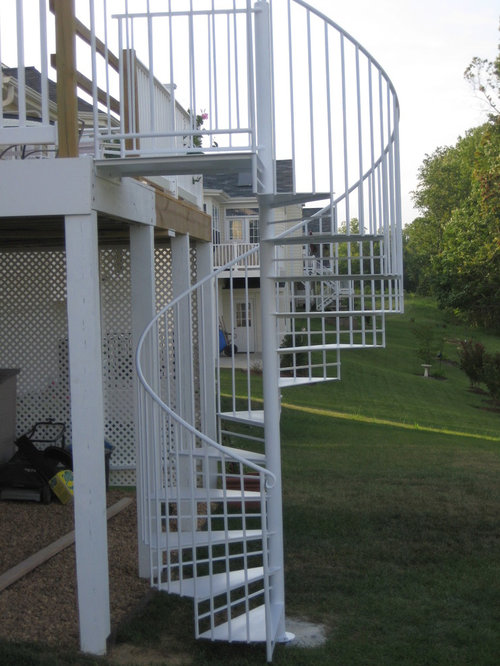 Custom iron spiral staircases - Attic houses with exterior stairs ...