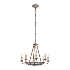 Cyrano 8 Light Chandelier in Earthen Bronze