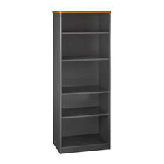 Series A 26-inch 5-Shelf Bookcase Natural Cherry Slate