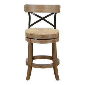 Myrtle Counter Stool, Wire-Brushed Finish
