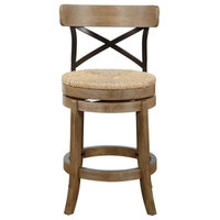 Myrtle Counter Stool, Wheat Wire-Brush