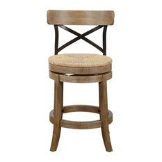 "24"" Myrtle Counter Stool, Wire-Brush"