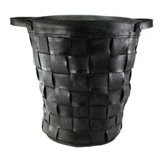 Reclaimed Tire Basket, Large, Natural Rubber