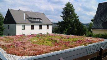 Extensive Dachbegrünung eines Doppelcarports