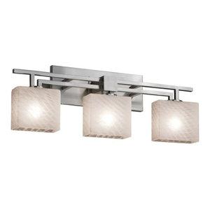 "Justice Design Group FSN-8703-55-WEVE Fusion 26"" Aero 3 Light Vanity Light"