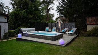 Outdoor Kitchen, Swim Spa & Pergola Project