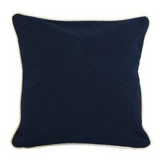"Monogrammed Pillowcase Navy 12"", Evergreen Thread, Arial Font, Q"