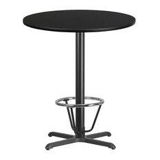 36-inch Round Back Laminate Table X-Base