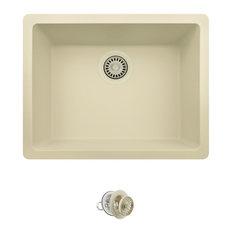 808-Beige Quartz Granite Sink with Strainer