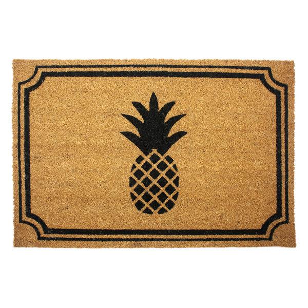 Pineapple 24x36 Slip Resistant Coir Doormat